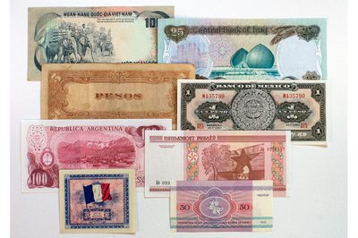 World paper money from Venture in History Photo 2