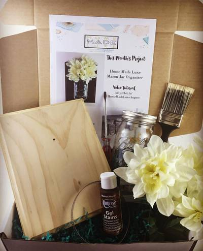 Home made luxe diy home decor craft box cratejoy - Home decor subscription box ...